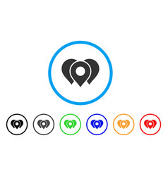location markers rounded icon vector image