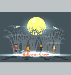 minimal scene for halloween day 31 october with vector image
