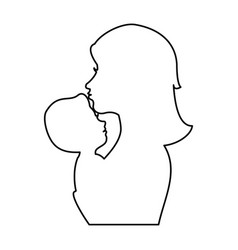 Mother and baby icon vector