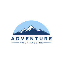 mountain and adventures logo designs vector image