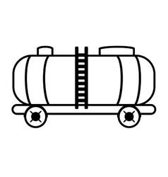 Oil tanker truck transport vector