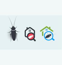 Pest control service logo concept set house vector