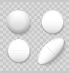 pills 3d realistic isolated icons vector image