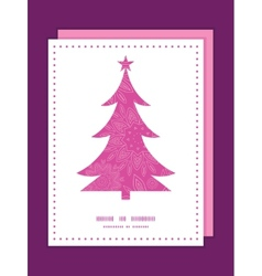 pink abstract flowers texture Christmas tree vector image