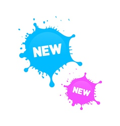 Pink and Blue Stickers - Stains vector image