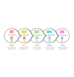 process line infographic 5 options timeline vector image