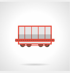 Rail freight wagon flat color icon vector