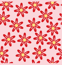 Red seamless pattern on pink background vector