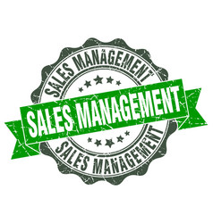 Sales management stamp sign seal vector