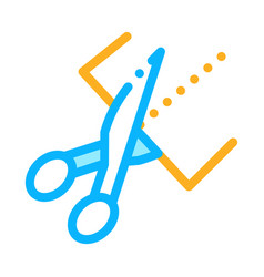 scissors cutting icon outline vector image