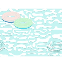 seamless pool background vector image