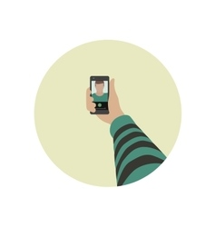 Selfie icon whith phone vector image
