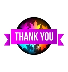 sign Thank You autumn leaves vector image