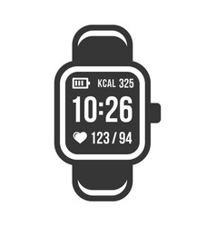 Smart watch and fitness tracker band icons set vector