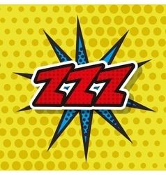 Splash comic isolated icon vector