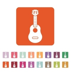 The guitar icon Music and guitarist musician vector image