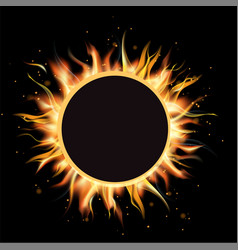 Total eclipse of the sun eclipse background vector