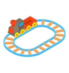 Toy train icon cartoon style vector image