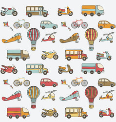 Transport kids seamless pattern vector