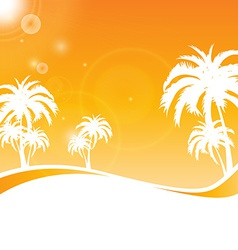 Tropical scene vector
