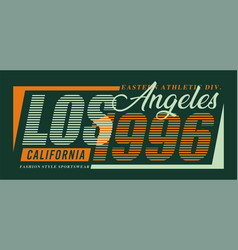 typography design los angeles for t-shirt vector image