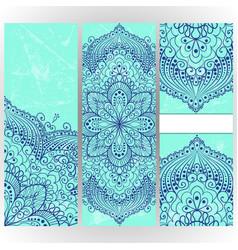 vintage invitation card template frame vector image