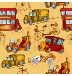 Vintage Transport Seamless vector