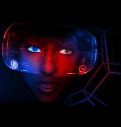 Virtual reality 3d vector