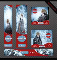 winter season promotional banner design vector image