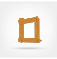 Wooden Boards Letter O vector image