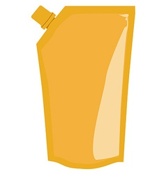Yellow sauce package vector image
