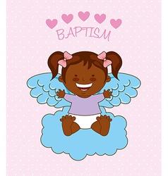 Baptism angel design vector