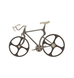 bicycle flat icon bike side view isolated side vector image vector image