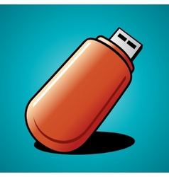 flash drive vector image vector image