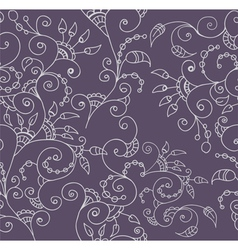 seamless flower ornament vector image vector image