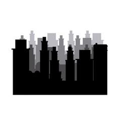 silhouette cityscape scene night time vector image