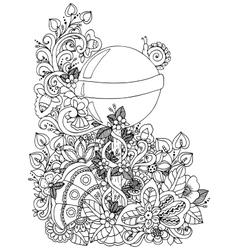 zentangl a lollipop in the vector image