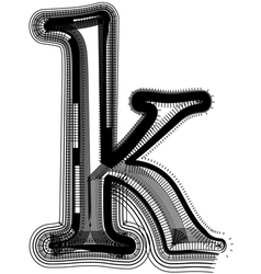 abstract font letter k vector image vector image