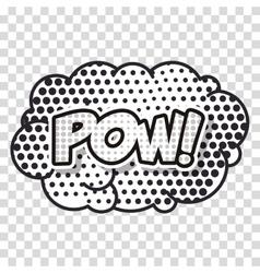 cloud smoke pop art style vector image vector image