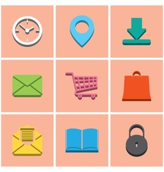 colored icons set 2 vector image vector image