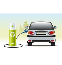 Electric car recharges vector image vector image