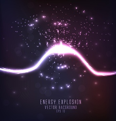 energy explosion vector image vector image