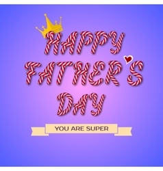 Happy Fathers Day hand drawn vector image vector image
