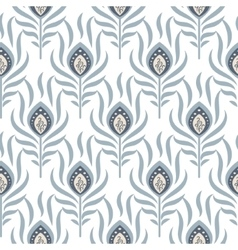 Peacock pastel blue seamless pattern vector image