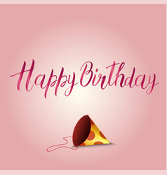 Birthday card with holiday cap vector