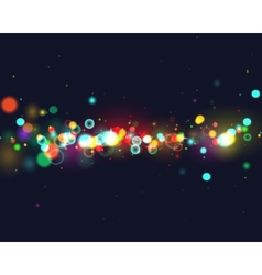 Colourfull bokeh background vector image
