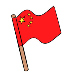 flag of china icon cartoon vector image