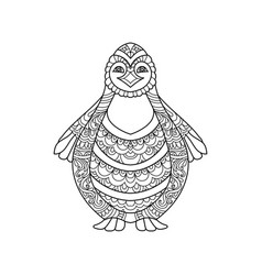 hand drawn penguin vector image vector image