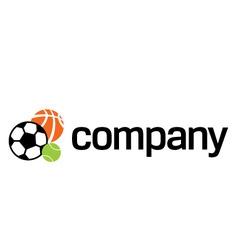 logo of sports ball vector image