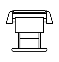 Large format inkjet printer icon outline style vector